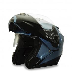 casque modulable bleu pétrole emod éole
