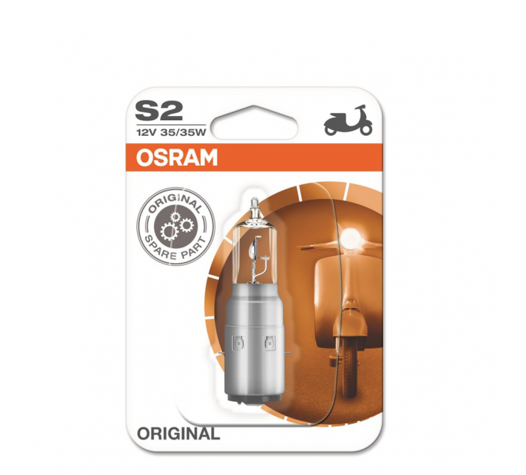 ampoule s2 12v 35/35w moto scooter osram