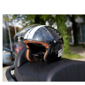 casque jet noir verni move on ksk