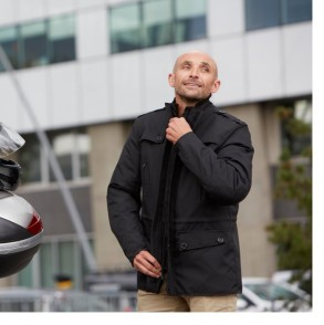 veste moto scooter hiver noir trade ksk
