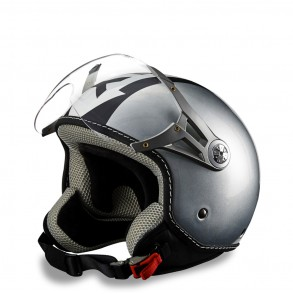 Casque One Way Silver - Gris verni