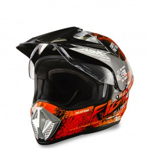 casque cross orange fight ksk