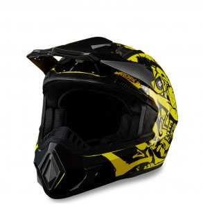 casque cross jaune legacy éole