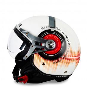 casque jet décoré sound system éole