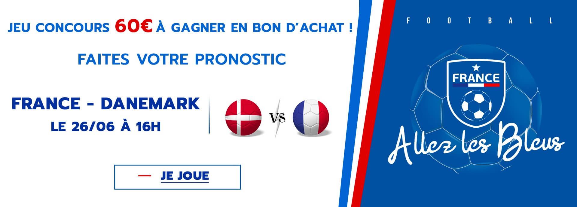 Jeu concours coupe du monde France Danemark